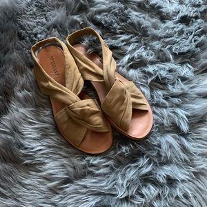 Derek Lam Women's Brown Crossbody Sandals Sz 8